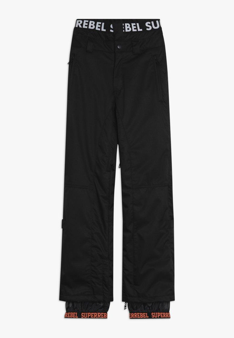 SuperRebel - SKI SNOWBOARD PANT PLAIN - Talvihousut - black