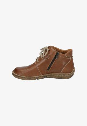 Lace-up ankle boots - castagne
