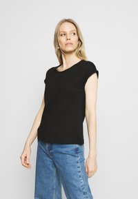 Anna Field - 3 PACK - T-shirts - black/white/mottled light grey - 4