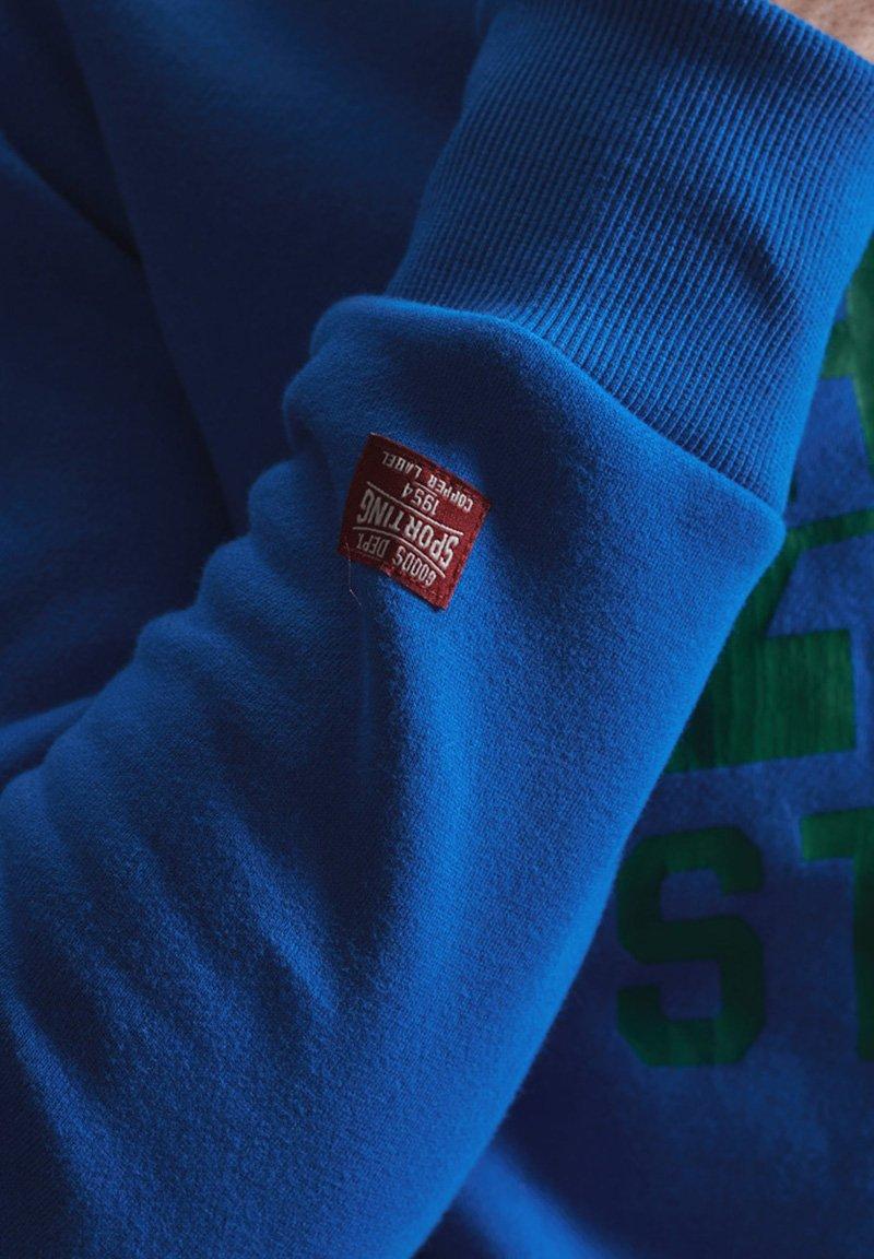 Superdry - TRACK & FIELD CLASSIC CREW - Collegepaita - eagle blue