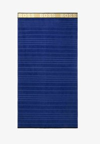 BOSS - STRANDTUCH STRIPED LOGO - Beach towel - navy - 0