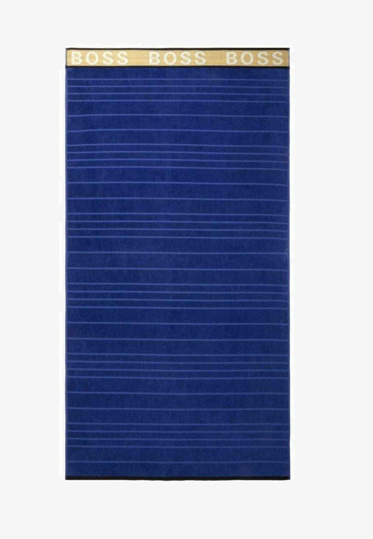 BOSS - STRANDTUCH STRIPED LOGO - Beach towel - navy