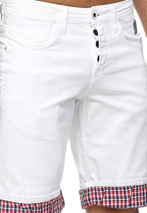 Denim shorts - weiß