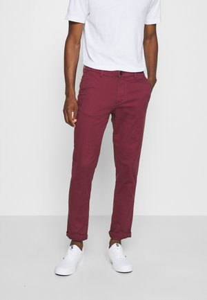SLHSTRAIGHT NEWPARIS FLEX PANTS  - Chinosy - tawny port