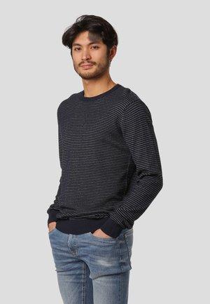 EDMUND - Stickad tröja - dk.navy