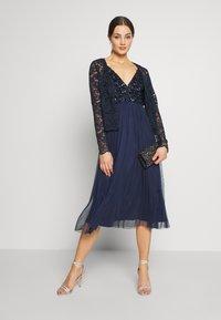 Lace & Beads - AZALIA MIDI - Cocktail dress / Party dress - navy - 1