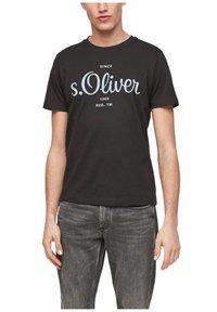 s.Oliver - Print T-shirt - black - 3