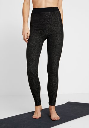 LEGGING GLITTER - Leggings - black