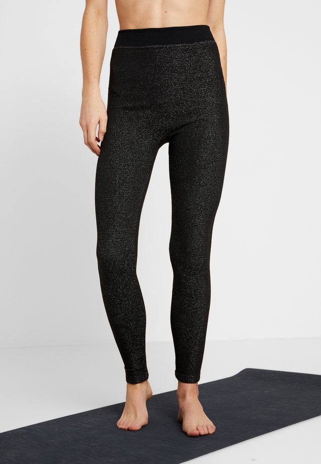 LEGGING GLITTER - Leggings - black
