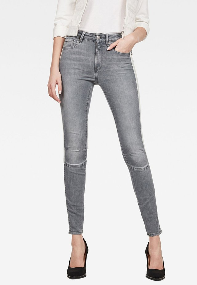 BIWES STRIPE HIGH - Jeans Skinny Fit - gray