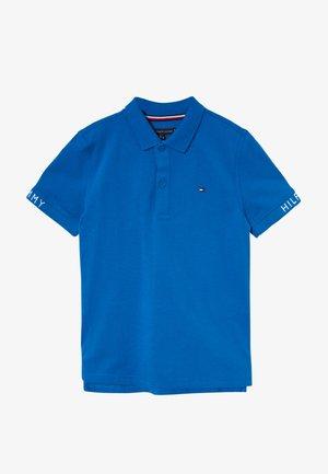 SLEEVE TEXT  - Polo shirt - blue