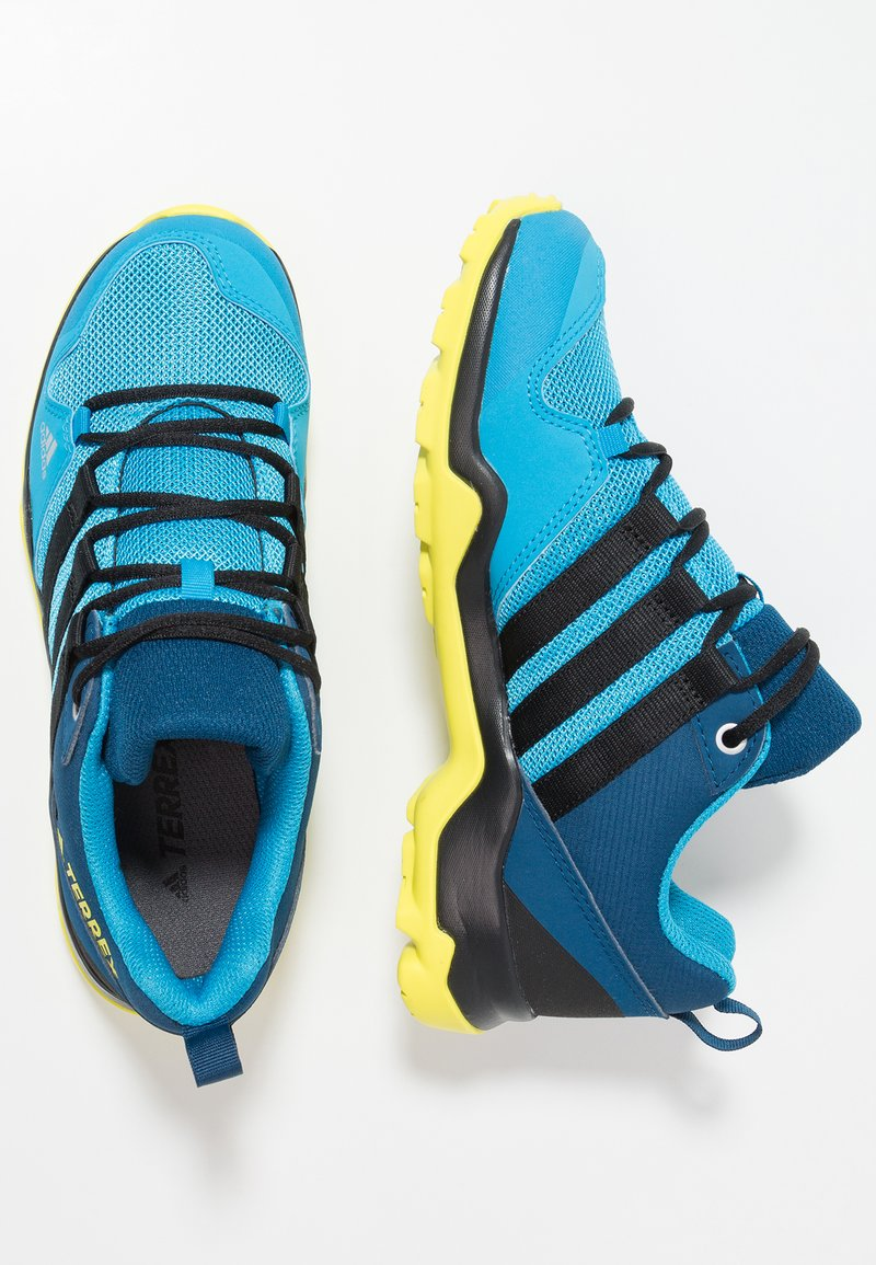 adidas Performance - TERREX AX2R - Hiking shoes - shock cyan/clear black/shock yellow