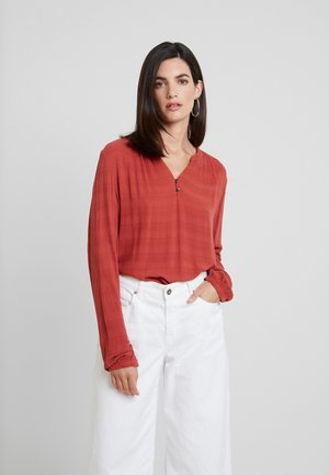 BLOUSE SOLID  - Blouse - dry red