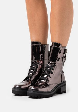 BART COMBAT BOOT BUCKLE - Lace-up ankle boots - gunmetal