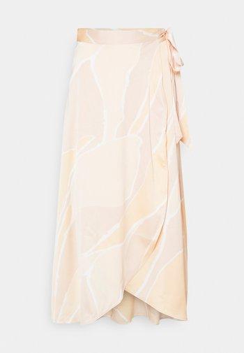 Wrap skirt - yellow arty
