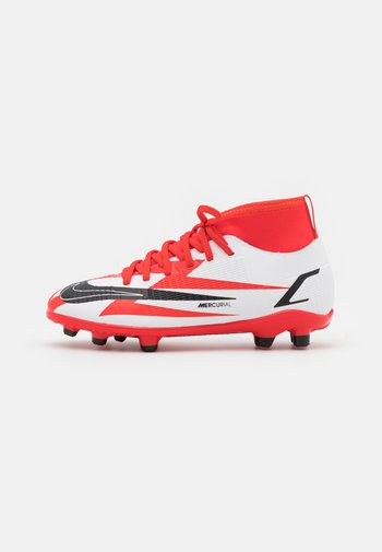 MERCURIAL JR 8 CLUB CR7 FG/MG UNISEX - Moulded stud football boots - chile red/black/white/total orange
