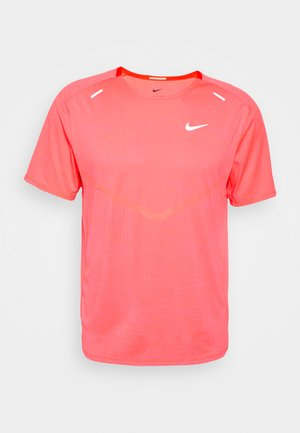 TECHKNIT ULTRA  - T-shirts print - bright crimson/hyper pink/silver