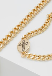 Topman - CROSS AND BAR 2PACK - Pulsera - gold-coloured - 4