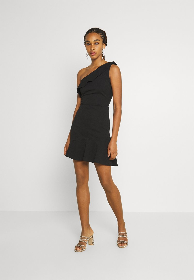 WAL G. - STACEY ONE SHOULDER A-LINE DRESS - Cocktail dress / Party dress - black