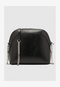 Bershka - MIT KETTE  - Across body bag - black - 2