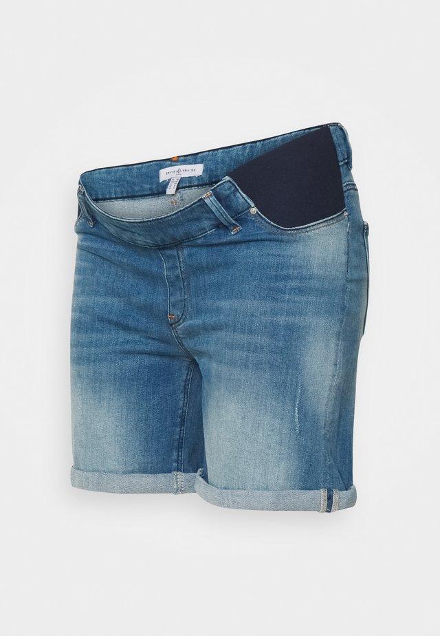 TAYLER - Denim shorts - light wash denim