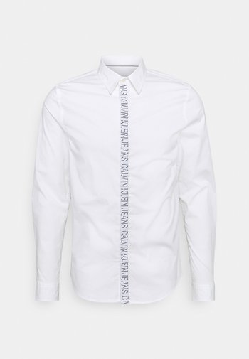 SHADOW LOGO TAPE SHIRT - Kauluspaita - bright white