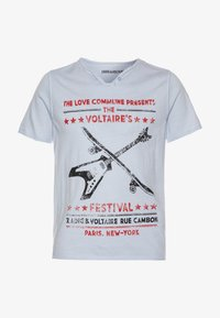 Zadig & Voltaire - SHORT SLEEVES  - Print T-shirt - pale blue - 0