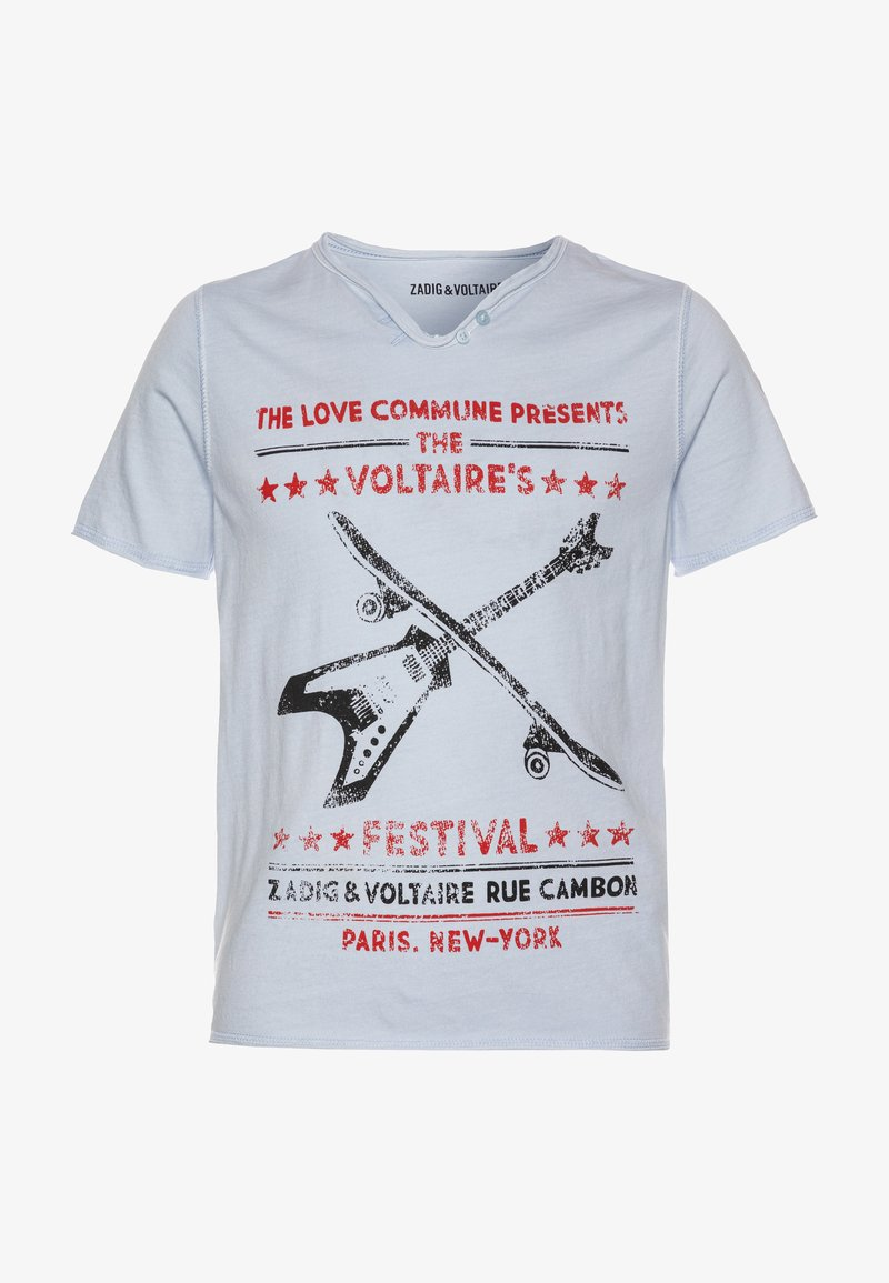 Zadig & Voltaire - SHORT SLEEVES  - Print T-shirt - pale blue