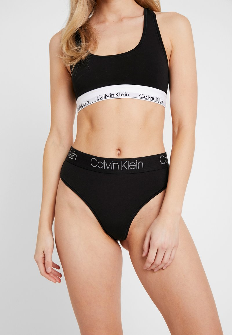 Calvin Klein Underwear - BODY HIGH WAIST THONG - String - black