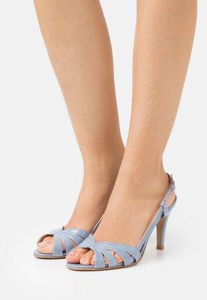 ANDES - High heeled sandals - brillant bleu azur