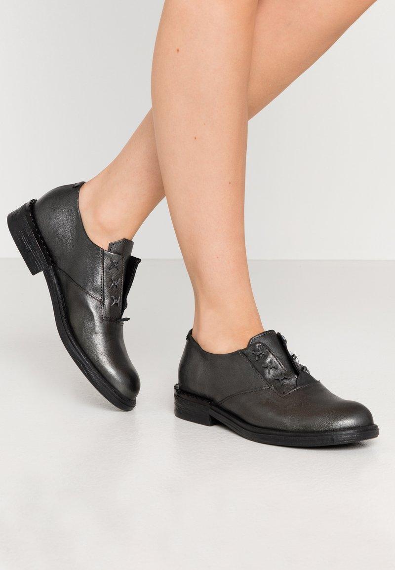 MJUS - Šněrovací boty - gunmetal