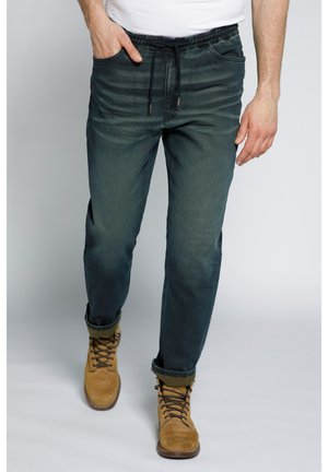 MODERN - Jeans Tapered Fit - dark blue denim