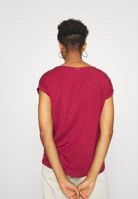 Vero Moda - VMAVA PLAIN - T-shirt basic - tibetan red - 2