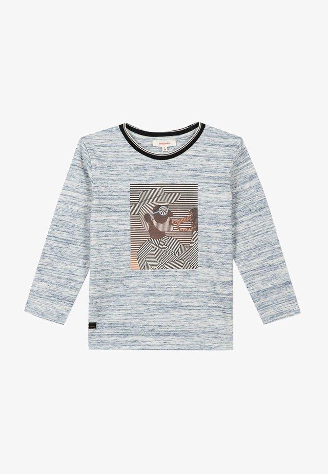 T-SHIRT À MANCHES LONGUES FANTAISIE - Långärmad tröja - indigo