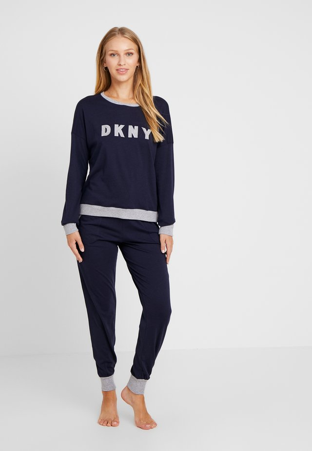 Pyjama set - dark blue/white