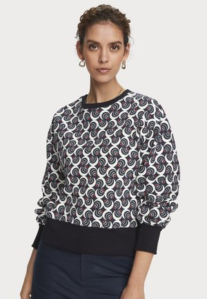 Cotton blend printed balloon sleeve sweatshirt - Sweatshirt - combo f