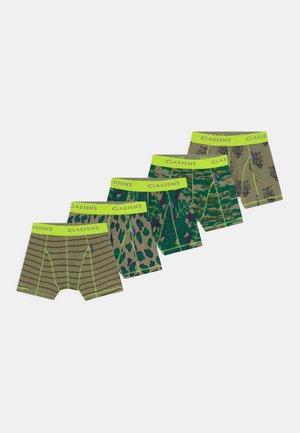 BOYS ZALANDO EXCLUSIVE 5 PACK - Boxerky - multi-coloured/green