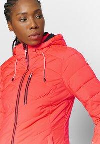 Killtec - SAVOGNIN QUILTED - Ski jacket - neon coral - 5
