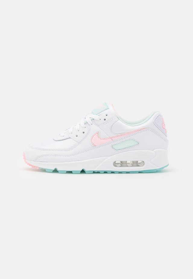 AIR MAX 90 - Sneakersy niskie - white/arctic punch/barely green/light dew