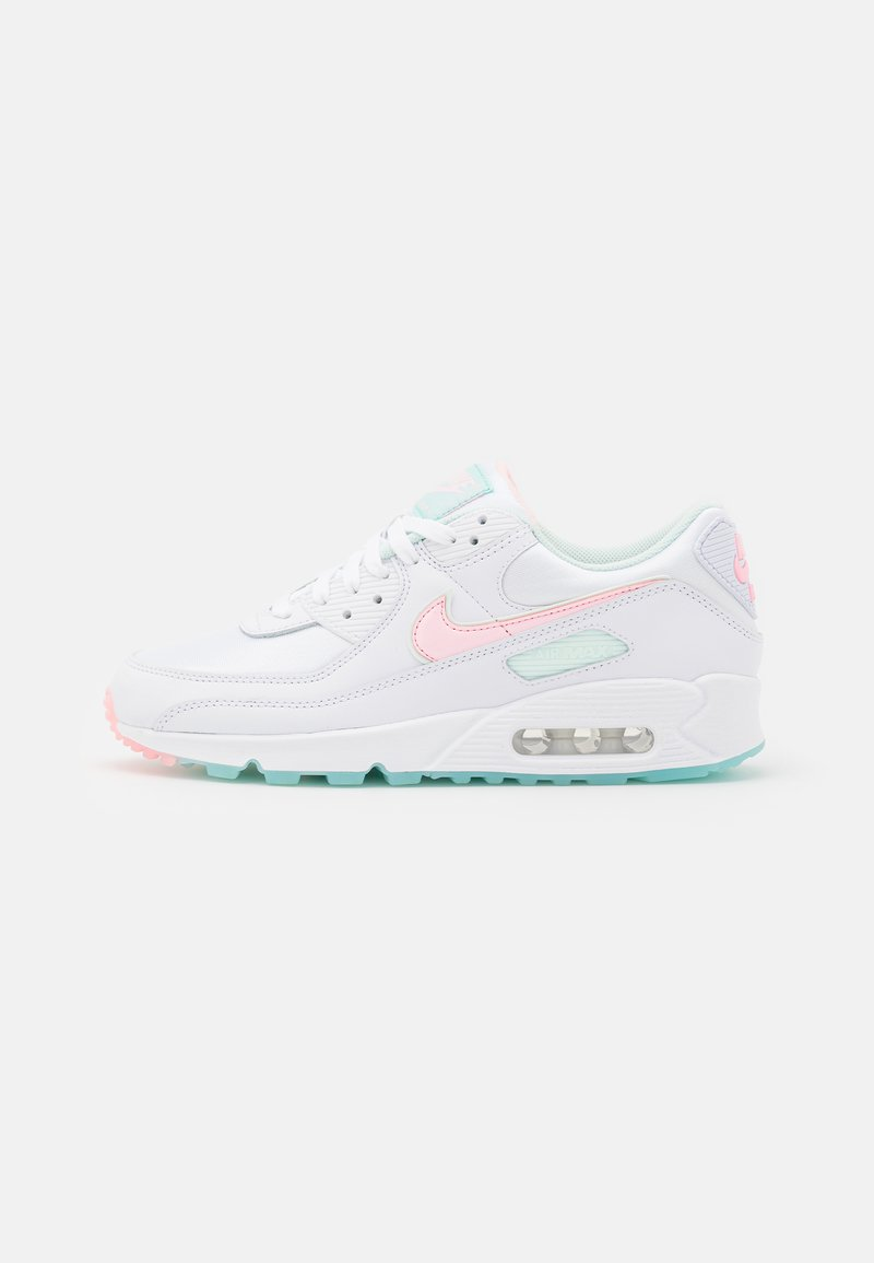 Nike Sportswear - AIR MAX 90 - Sneakers laag - white/arctic punch/barely green/light dew