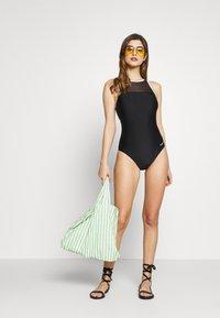 Zoggs - MONOCHROME CROSSBACK - Swimsuit - black - 1