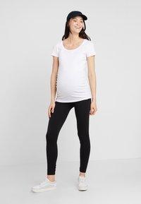Zalando Essentials Maternity - 2 PACK - Legginsy - black/grey - 1