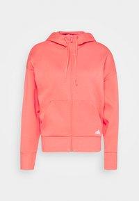 adidas Performance - Zip-up hoodie - coral - 4