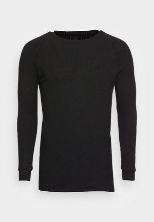 RAGLAN TEE - Long sleeved top - black