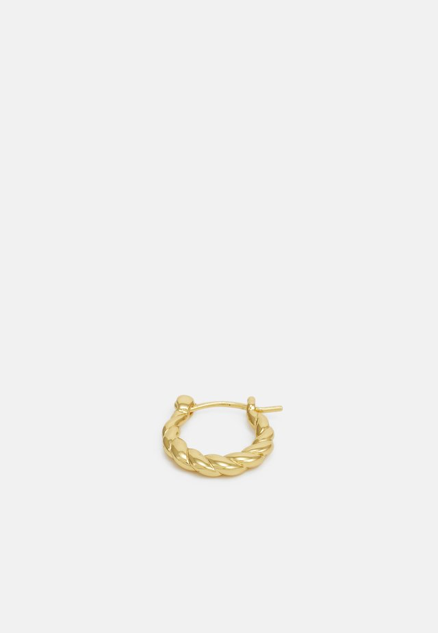 VINTAGE COLLECTION TWISTED MINI HOOPS - Øreringe - gold-coloured