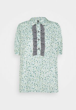 RIVAL FLORAL RUFFLE BLOUSE - Blouse - green