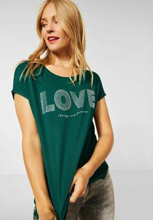 MIT AUFSCHRIFT - Print T-shirt - grün
