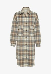 Cream - TARACR OZ SHIRT - Classic coat - feather gray check - 3