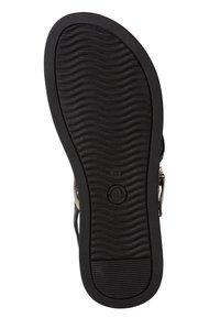 Tamaris - Wedge sandals - black/gold - 3