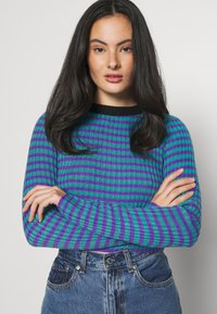 The Ragged Priest - STRIPE LONG SLEEVE - Maglione - blue/lilac - 4